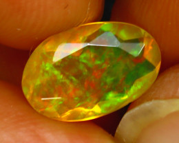 Welo Opal 1.58Ct Natural Ethiopian Play of Color Opal H1001/A44