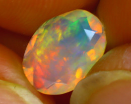 Welo Opal 1.05Ct Natural Ethiopian Play of Color Opal H1005/A44