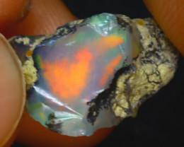 7.00Ct Multi Color Play Ethiopian Welo Opal Rough J1118/R2