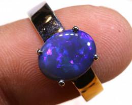 Opal Ring set in 925 Sliver Australian Made Laz-M724