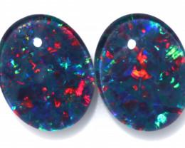 4.4 cts  Australian Triplet Opal Pair 10x8 mm   FO 1348