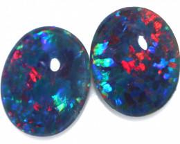 3.7 cts  Australian Triplet Opal Pair 10x8 mm   FO 1362