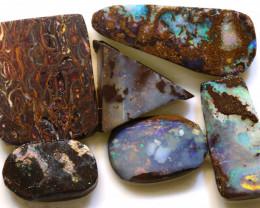 107cts boulder opal pre-shaped rub parcel ado-8796