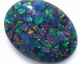 10 Cts Australian Oval Opal Triplet Mosaic  FO 1365