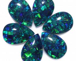 11 Cts Parcel  6 Australian Pear Drop Opal Triplet Mosaic  FO 1393