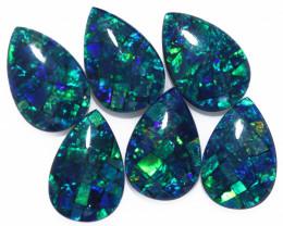 11 Cts Parcel  6 Australian Pear Drop Opal Triplet Mosaic  FO 1394