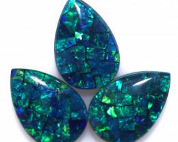 5.9 Cts Parcel  3 Australian Pear Drop Opal Triplet Mosaic  FO 1396