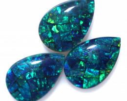 5.9 Cts Parcel 3 Australian Pear Drop Opal Triplet Mosaic  FO 1397