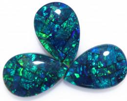 5.9 Cts Parcel 3 Australian Pear Drop Opal Triplet Mosaic  FO 1398