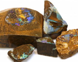 219cts Boulder Opal Rough Beginners Parcel ADO-8811