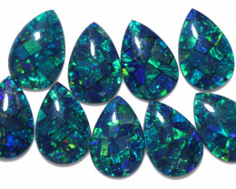 16 Cts Parcel 9 Australian Pear Drop Opal Triplet Mosaic  FO 1402