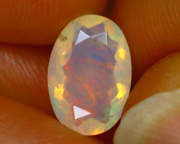 Welo Opal 1.30Ct Natural Ethiopian Play of Color Opal H1206/A44