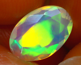 Welo Opal 1.00Ct Natural Ethiopian Play of Color Opal J1301/A44