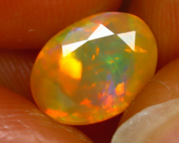 Welo Opal 1.66Ct Natural Ethiopian Play of Color Opal J1303/A44