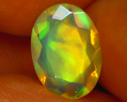 Welo Opal 1.08Ct Natural Ethiopian Play of Color Opal J1304/A44