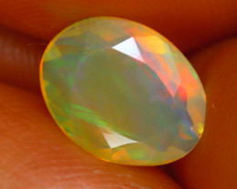 Welo Opal 1.42Ct Natural Ethiopian Play of Color Opal J1306/A44