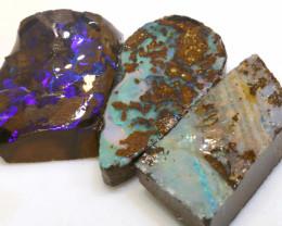 49.35 cts boulder opal pre-shaped rub parcel ado-8835