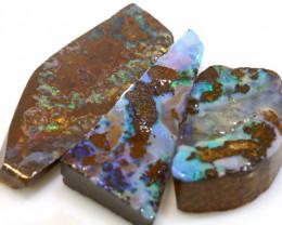 46.70 cts boulder opal pre-shaped rub parcel ado-8837