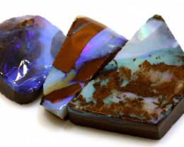 38.10 cts boulder opal pre-shaped rub parcel ado-8839