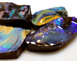 30.60 cts boulder opal pre-shaped rub parcel ado-8850