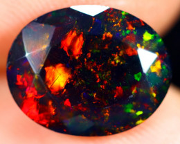1.82cts Natural Ethiopian Faceted Smoked Welo Opal / BF7231