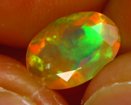 Welo Opal 1.12Ct Natural Ethiopian Play of Color Opal J1502/A44