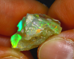 9.14Ct Multi Color Play Ethiopian Welo Opal Rough J1508/R2