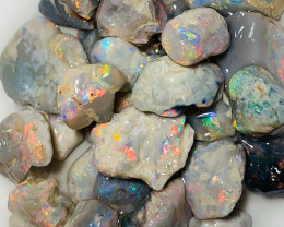 Semi Black Multicolour Small Size Rough Nobby Opals to Cut & Carve