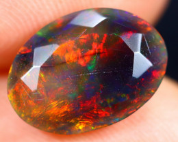 2.17cts Natural Ethiopian Faceted Smoked Welo Opal / BF7291