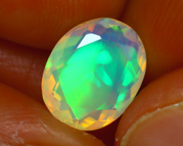 Welo Opal 2.38Ct Natural Ethiopian Play of Color Opal H1602/A44