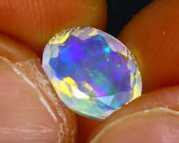 Welo Opal 1.47Ct Natural Ethiopian Play of Color Opal H1603/A44