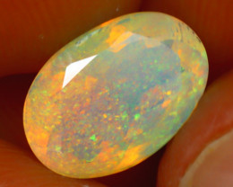 Welo Opal 1.68Ct Natural Ethiopian Play of Color Opal H1801/A44
