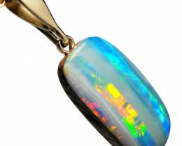Australian Opal Doublet Pendant 14k Gold Love Gift 9.1ct E10