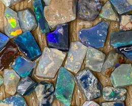 59.20 ct Opal Rough Lot Black Opals Lightning Ridge BORA100421