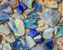 145.40 ct Opal Rough Lot Black Opals Lightning Ridge BORB100421