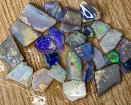88.40 ct Opal Rough Lot Black Opals Lightning Ridge BORD100421