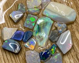 61.50 ct Opal Rough Lot Black Opals Lightning Ridge BORF100421