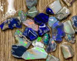 74.70 ct Opal Rough Lot Black Opals Lightning Ridge BORG100421