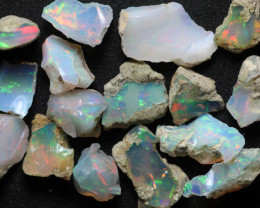 Natural 54.8ct Ethiopian Welo Rough Opal Parcel #ERP101