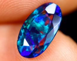 1.03cts Natural Ethiopian Faceted Smoked Welo Opal / BF7440
