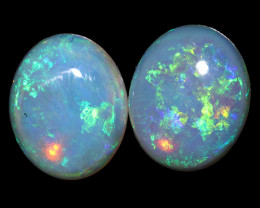 3.96CTS COOBER PEDY OPAL PAIR GREAT COLOUR PLAY  S1559
