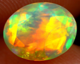 1.59cts Natural Ethiopian Faceted Welo Opal /BF7425