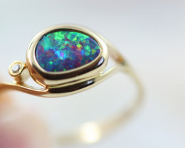 Doublet Opal set in14 k Yellow Gold Ring CK 600