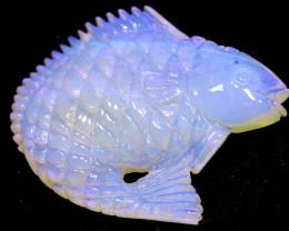 12.10 carats MINTABIE OPAL FISH CARVING LO- 6616  lightningopals