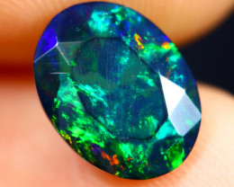 1.34cts Natural Ethiopian Welo Faceted Smoked Opal / HM2589