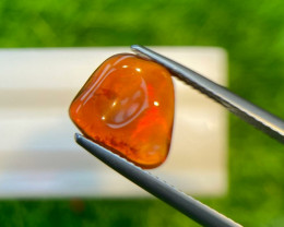 Fire opal 2.1 Cts  Red polished thumble BGC1844 | From Mexico