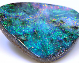 14.65 cts boulder opal polished cut stone  TBO-A3435   - trueblueopals