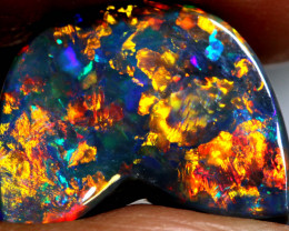 N1 - 7.2 CTS QUALITY BLACK OPAL STONE L6525 INV- 2215 investmentopals