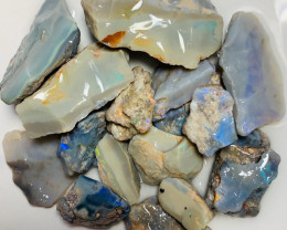 410 Cts Big Size Rough Seam Opals Showing Bars & Colours to Go Thru
