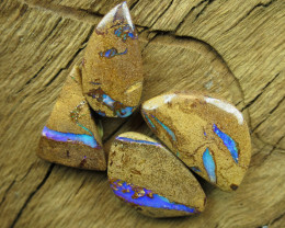 60cts, **4 X BOULDER PIPE OPALS**